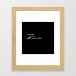 acrophobia Framed Art Print