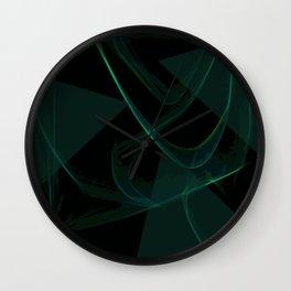 Dark Waves Wall Clock