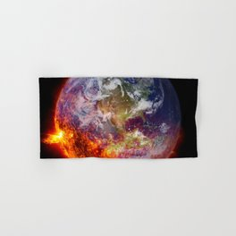 Global Warming Climate Change Hand & Bath Towel