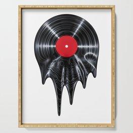 Melting vinyl / 3D render of vinyl record melting Serving Tray