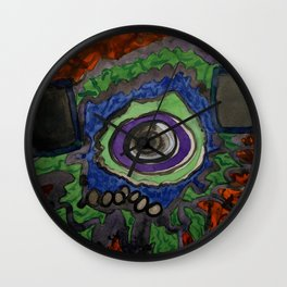Paradise within blazing Flames Wall Clock