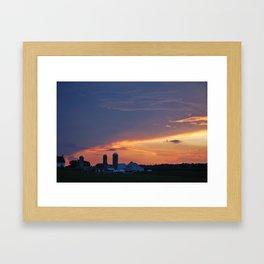 Lancaster County, PA Sunset Framed Art Print