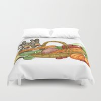 jackalope Duvet Covers featuring November Jackalope by JoJo Seames