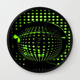 Green spots in the dark Wall Clock