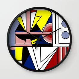 A digitally reworked famous pop art Wall Clock
