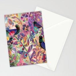 Birds among flowers Stationery Cards