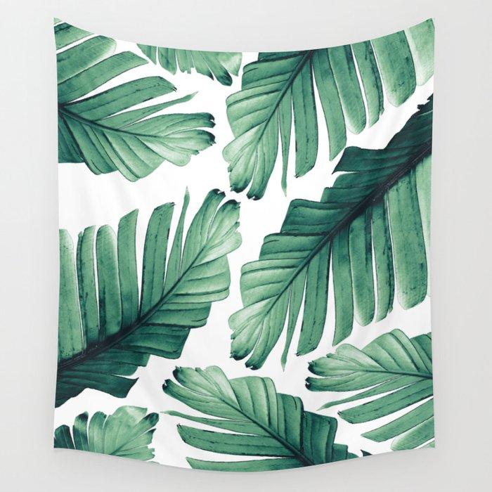 Tropical Banana Leaves Dream #3 #foliage #decor #art #society6 Wall Tapestry