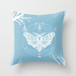 Witch Craft Winter Throw Pillow