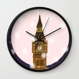 London Christmas Eve Wall Clock