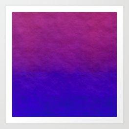Deep Magenta Purple Ombre Watercolor Art Print