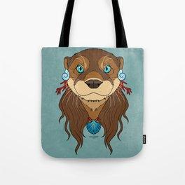 Tribal Otter Tote Bag