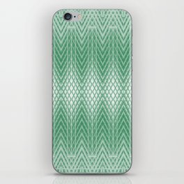 Cool Mint Green Frosted Geometric Design iPhone Skin