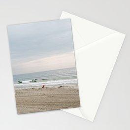 Rhode Island Beach Storm Watch at Dusk Stationery Cards