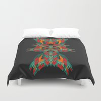 tatoo Duvet Covers featuring Calaabachti Dust Mite by Obvious Warrior