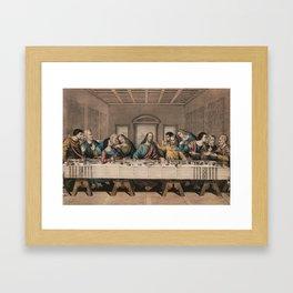 The Last Supper - Vintage Currier and Ives Print Framed Art Print