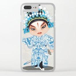 Beijing Opera Character ShiXu Clear iPhone Case