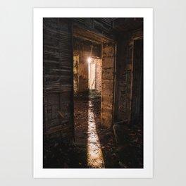 Urbex - abandoned castle in Scotland Art Print