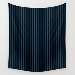 Snorkel Blue and Black Stripes Wall Tapestry