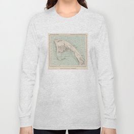 Vintage Map of Provincetown MA (1892) Long Sleeve T-shirt