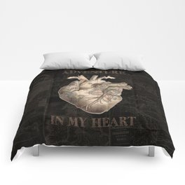 adventure heart-world map Comforters