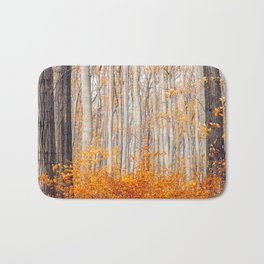 orange autumn Bath Mat