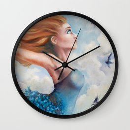 Zephyr, She Flies With Her Own Wings Wall Clock