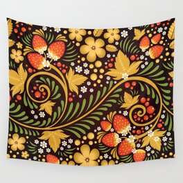 Native floral ornament Wall Tapestry