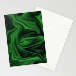 Black and green marble pattern Stationery Cards