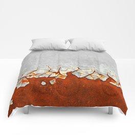 Rust and Grey Comforters