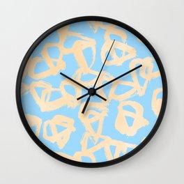 Sweet Life Triangle Dots Orange Sherbet + Blue Raspberry Wall Clock