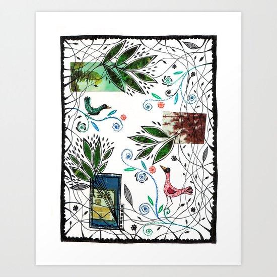 Through the jungle web Art Print