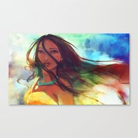 watercolor Canvas Prints featuring The Wind... by Alice X. Zhang