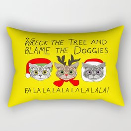 Holiday Cat Brats Rectangular Pillow