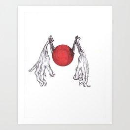 Hand Ball Art Print