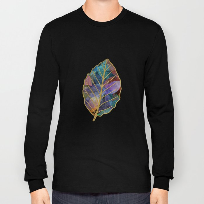 Colored Leaf Pattern 2 Long Sleeve T-shirt