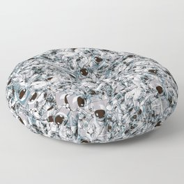 Crowded Space Floor Pillow
