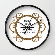 Thine Own Self Wall Clock