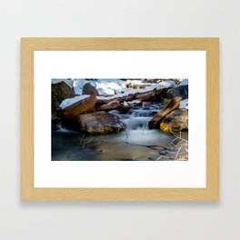 Winter Flow Framed Art Print