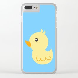Yellow rubber ducks illustration Clear iPhone Case