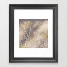 Abstract coquelicot Framed Art Print