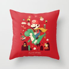 platformer Throw Pillow