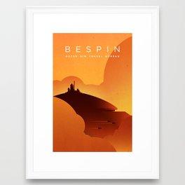 Outer Rim Travel Bureau: Bespin Framed Art Print