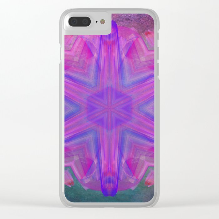 Jeweled splendor in vibrant pink Clear iPhone Case