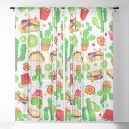 Fiesta Tacos Sheer Curtain