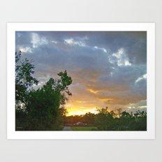 A Sunrise In Kentucky Art Print