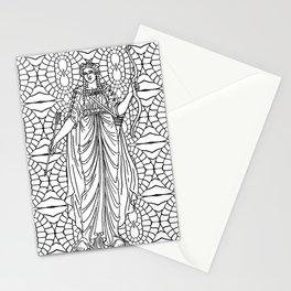 Greek goddess Artemis Stationery Cards