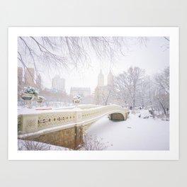 Central Park New York City Snow Day Art Print