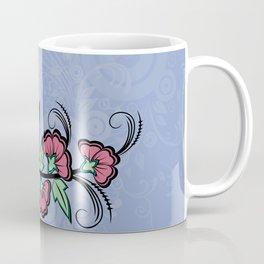 Abstract floral corner Coffee Mug