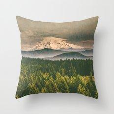 Mountains - Mt. Hood from Washington Throw Pillow