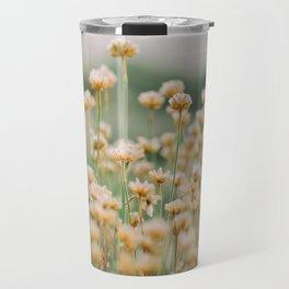 Vintage Chamomile Wildflowers Travel Mug